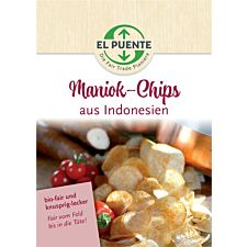 Poster Maniok-Chips aus Indonesien